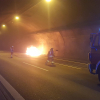 Fahrzeugbrand in Engelbergtunnel