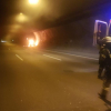 PKW-Brand in Engelbergtunnel